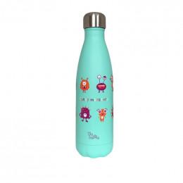 Gourde bouteille en inox - Funny monsters - 500 ml