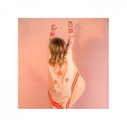 Déguisement Super-héros en velours - Bloom pink