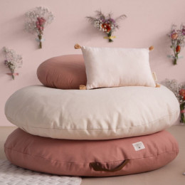 Pouf rond Sahara - Bloom pink