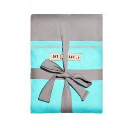 Echarpe porte-bébé - gris clair et turquoise