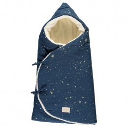 Nid d'ange hiver Cozy - Gold stella & Night blue
