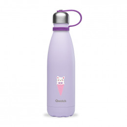 Gourde bouteille nomade isotherme - 500 ml - Glace chat