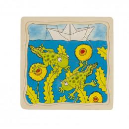 """Puzzle en bois """"grenouille"""" - à partir de 3 ans"""