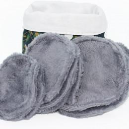 10 lingettes démaquillantes lavables + pochon - Vert