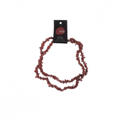Collier baroque 90 cm Jaspe rouge