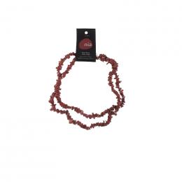 Collier baroque 90 cm Jaspe rouge