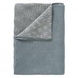 Couverture berceau en tricot - Whale blue fog