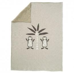 Couverture berceau en tricot - Pinguin