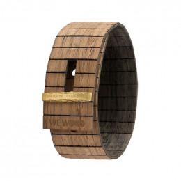 Bracelet en bois Gea Nut Black Gold