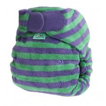 Couche TE2 Bamboozle stretch - à tailles - rayée mauve/vert *