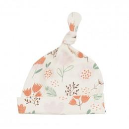 Bonnet en coton BIO - Flowers Pink
