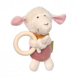 Hochet avec anneau en bois - Mouton