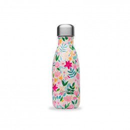 Gourde bouteille nomade isotherme - 260 ml - Flora rose