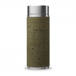 Manchon / fourreau de protection en liège pour théières en inox 300 ml - Kaki