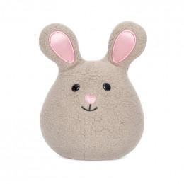 Mini hochet grelot Bunny - Gris