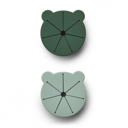 Set de 2 boîtes à collations Kelly - Mr bear green mix