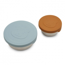 Set boîtes à collations Fiby - Mr bear sea blue mix