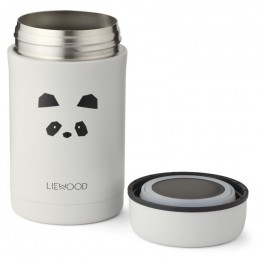 Pot alimentaire thermique Bernard - Panda light grey