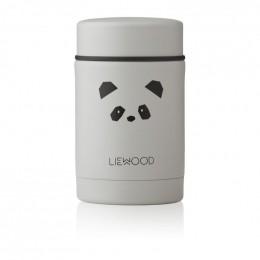 Pot alimentaire thermique Nadja - Panda light grey