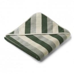 Cape de bain Louie - stripe Garden green/sandy/dove blue