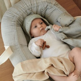 Nid bébé Gro - Y&D stripe: Blue wave & creme de la creme