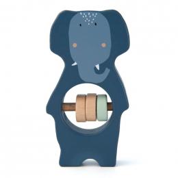Hochet en bois - Mrs. elephant