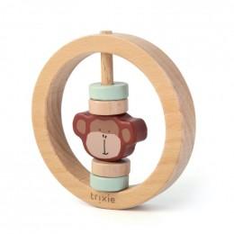 Hochet rond en bois - Mr. monkey
