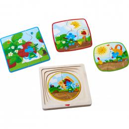 Puzzle en bois - La souris aux fraises