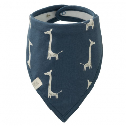 Bavoir bandana - Giraf indigo blue