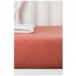 Drap Housse en Coton Bio pour lit bébé - 60x120 cm - Terracotta