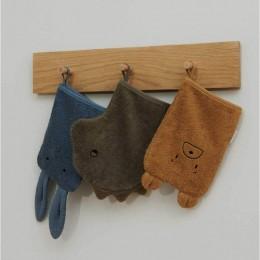 Set de 3 gants de toilette Sylvester - Whale blue multi mix