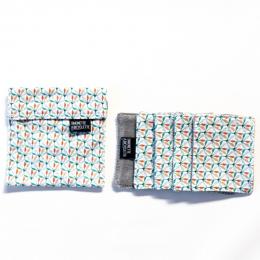 Pochette + 5 lingettes démaquillante en coton - 8 x 10 cm - Wopa