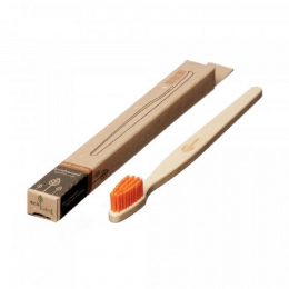 Brosse à dent en bois Adulte - Orange