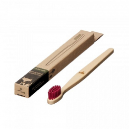 Brosse à dent en bois Enfant - Renard - Magenta
