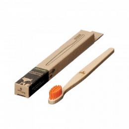 Brosse à dent en bois Enfant - Renard - Orange