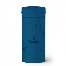 Boite Teatower bleu foncé 100 g