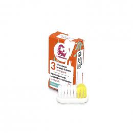 3 têtes de rechange pour brosse à dents en bioplastique