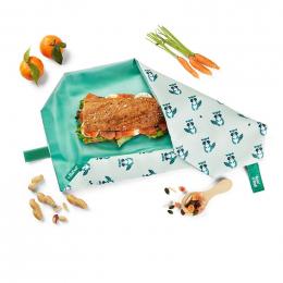 Pochette sandwich lavable et réutilisable Boc'n'Roll - Ratons laveurs