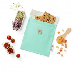 Pochette casse-croûtes lavable et réutilisable Snack'n'Go - Turquoise