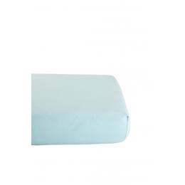 Drap Housse en Coton Bio pour lit bébé - 60x120 cm - Bleu ciel