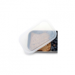 Couvercle pour boite en inox rectangulaire 740 ml - Translucide