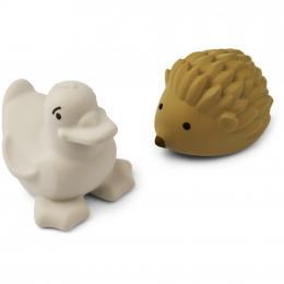 Set de 2 jouets de bain Henrik - Golden caramel & sandy mix