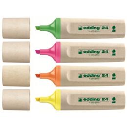 4 surligneurs fluo rechargeables et écologiques