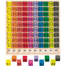 Table de multiplication en bois - à partir de 6 ans