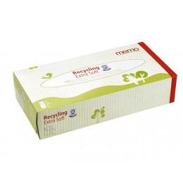 Zakdoekjes van gerecycleerd papier - Doos met 100 stuks