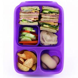 Hero Set lunchboxes met handvat. 3 compartimenten en 2 extra doosjes