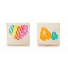 Snack pack: boterhamzakje in BIO katoen - motief Mama Love - 2 stuks