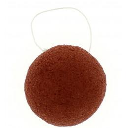 Ronde Konjac spons - Rode klei / droge huid
