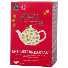 English Breakfast Bio en Fairtrade 20 theebuiltjes