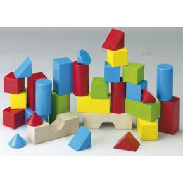 30 gekleurde bouwstenen - vanaf 1 jaar